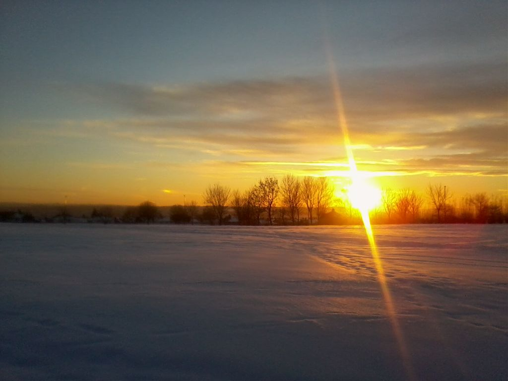 this is actually over a demolition site :)  #sun  #snow  #winter