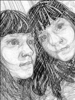 people black & white pencil art emotions dcscratchboard