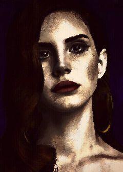 art lana del rey edit portrait heavy edit