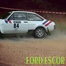 cars rallycar whitecar ford escort
