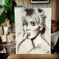 art drawing pencil portrait kate moss instagram
