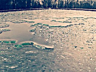 rain winter drops water